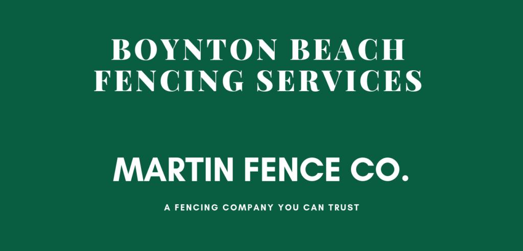 Fence Service Boynton Beach